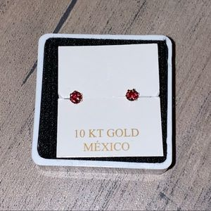 10k Yellow Gold Studs
